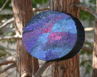 Galaxy Tree Stump Painting