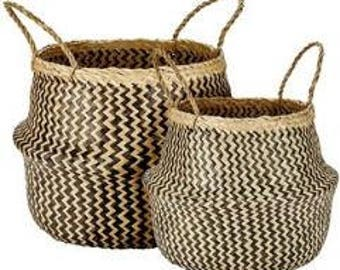 Zig Zag Belly Basket - Large