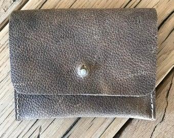 Leather mini wallet Minimalist wallet Slim wallet Womens wallet Mens wallet