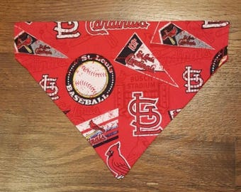 Reversible St Louis Cardinals Over the Collar Dog Bandana