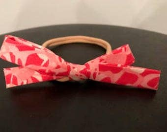 Pink and Red Bias Tape Bow