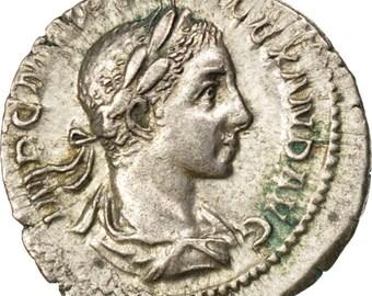 severus alexander denarius au(50-53) silver cohen #183 3.00