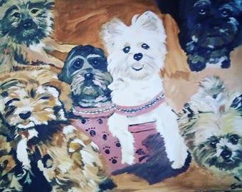 Customized dog portraits