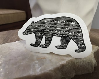 Black Bear Mandala, Sticker