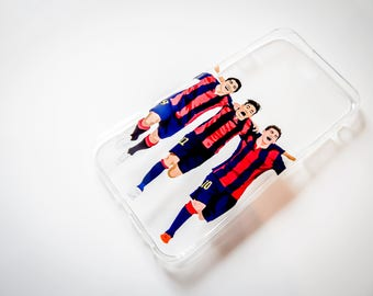 Barcelona Messi Neymar Suarez Football Soccer Phone Cover Case For iPhone 5 6 7 X