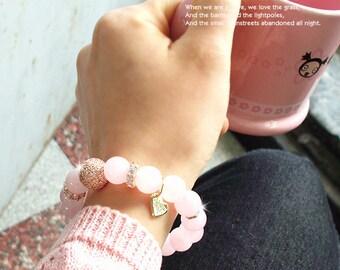 Lovely Luxury Rose Quartz Bracelet