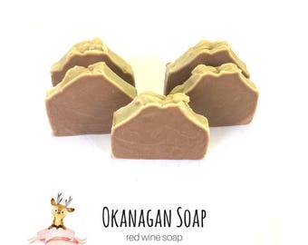 Red Wine Soap - Handmade Artisan Soaps - All Natural Organic Soap - Vegan Soap - Gift for Mom - Wine Lovers Soap - Red Wine Soaps