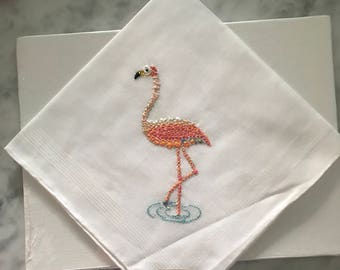 Hand embroidered handkerchief