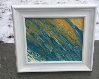 8x10 Framed Acrylic Painting