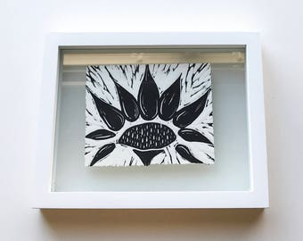 Sunflower Print Framed