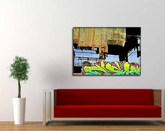 GM 7 - Streets To Canvas - Custom Graffiti Name Sign, Graffiti Art Canvas Print, Personalized Canvas Wall Art, Abstract Graffiti Canvas