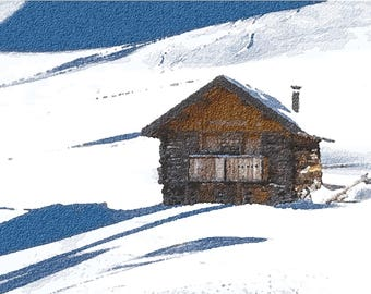 A cabin in the mountains. Italy