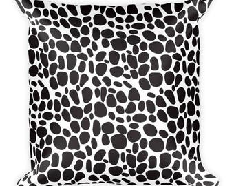 Black stones,Square Pillow, Nice and simple,Cover and stuffing,USA, printful