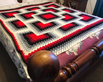 Granny Mixed Square Afghan 76