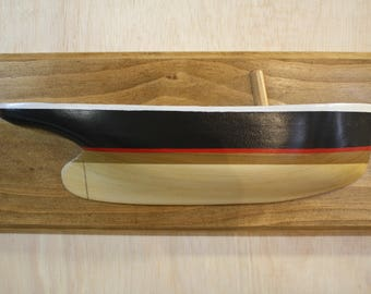 Ship hull model, Hand made of solid wood wall art