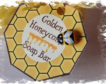 Golden Honeycomb soap Bars