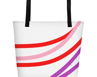 Rainbow Colorful Beach Bag