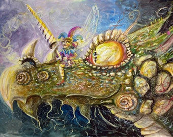 Jesters Dragon A3 Print