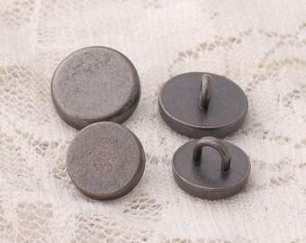 metal buttons 2 size 12*6/10*6mm 10pcs shirt sewing button zinc alloy light black button shank buttons smooth buttons