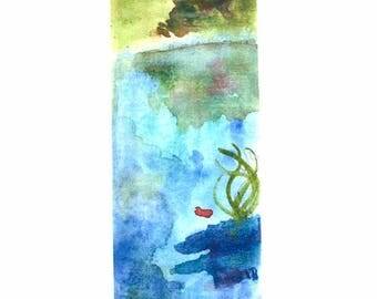 Lake Laminated Bookmark