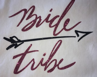 Bride Tribe Wedding Party Iron On Decal