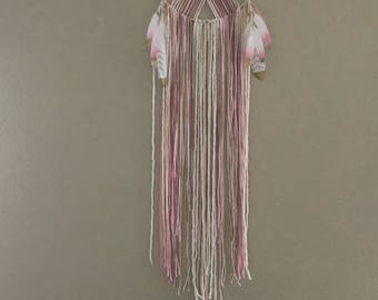 Baby pink and gold dream catcher