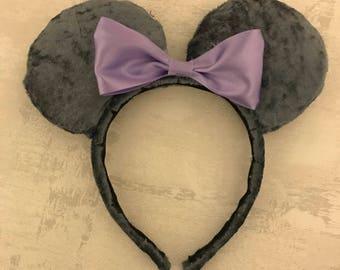 Velvet Minnie Mouse Ears