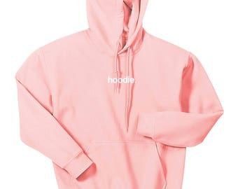 hoodie. pink