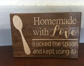 Homemade with Love Kitchen Sign