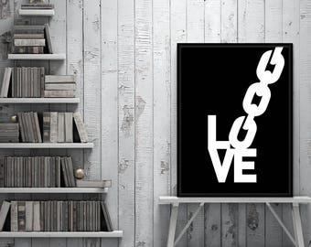 Love typographic poster