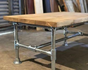 Handmade Scaffold Board Coffee Table with scaffold frame