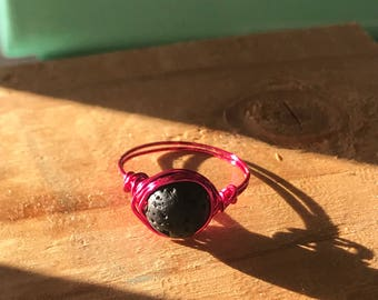 Pink Essential Oil Ring