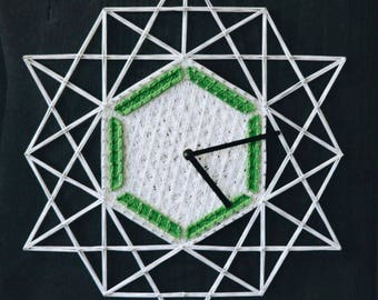 String Art Clock Wooden Clocks Design Wall Clock Modern Wall Clocks Rustic Wall Clock Modern Wall Clock Bedroom Clock Geometrical Clock