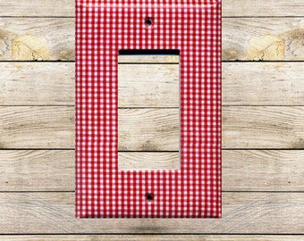 Red Gingham II Decorative Switchplate
