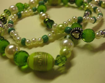 Forest Green Bracelet (set of 3)