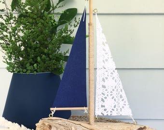 Driftwood Sailboat Medium
