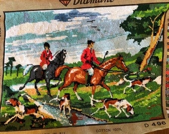 Needlepoint Tapestry - The Hunt