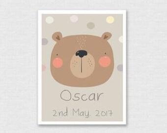 Cuddly Bear Print (A3 size)