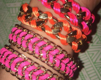 Chain and link bracelets