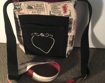 over shoulder Bag, handmade bespoke