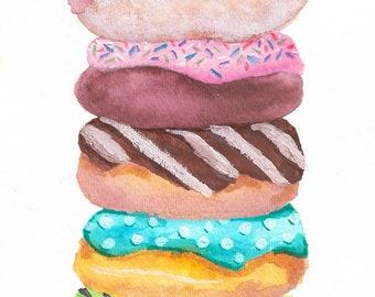 Doughnut Stack Painting