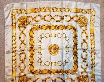 Vintage Chanel Style Silk Scarf