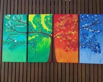 Canvas Seasons Tree