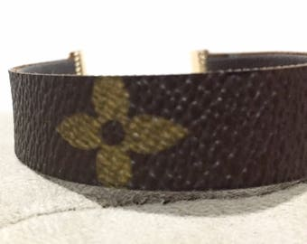Upcycled Reversible LV Bracelet