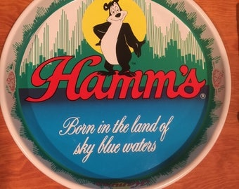 Vintage Hamm's Bear Beer Tray 1981 Olympia Brewing Co.
