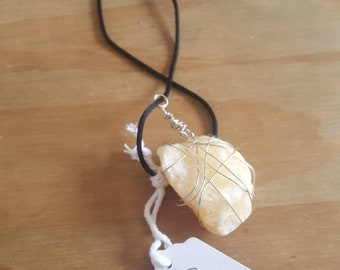 Calcite Wire Wrapped Necklace