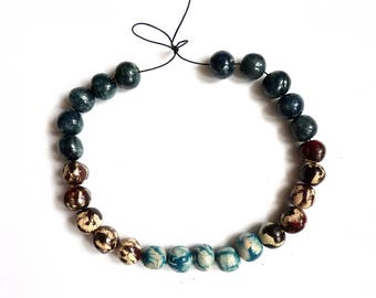 Artisan pottery beads, handmade clay beads, unique beads