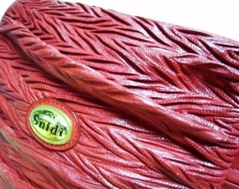 Fiber Street VINTAGE! rare vintage beautiful RED leather design bag
