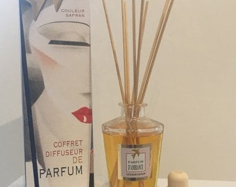 DIFFUSER FRAGRANCE violet 100% handmade, luxury home fragrance - box scent with sticks made in france home gift