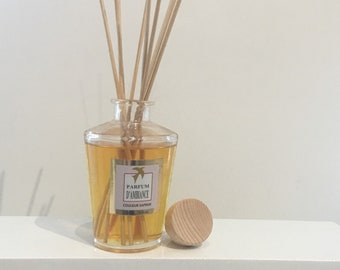 DIFFUSER PERFUME ORANGE flower 100% handmade, perfume of luxury home - scented box with sticks made in France gift